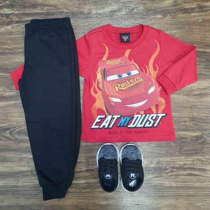 Calça Moletom com Camiseta Carros Infantil