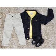Conjunto com Jaqueta Jeans Infantil