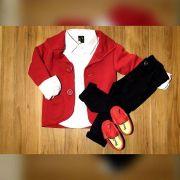 Calça Preta com Camisa Social e Blazer