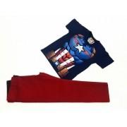 Calça Vinho Com Camiseta Capitão América