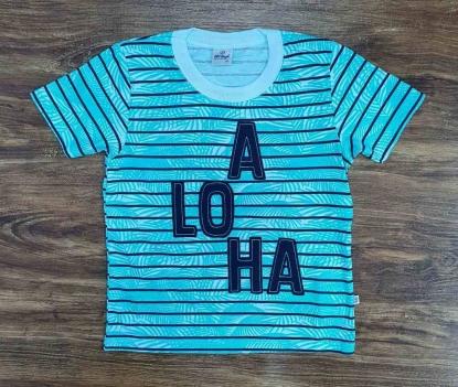 Camiseta Aloha Listrada Infantil