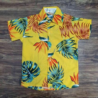 Camisa Amarela Floral Infantil