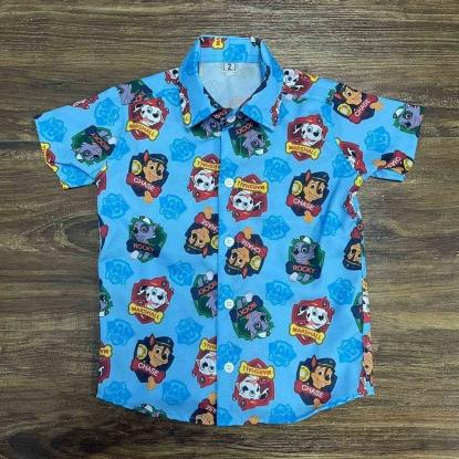 Camisa Azul Patrulha Canina Infantil