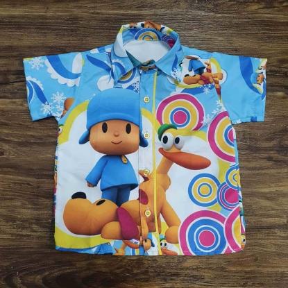 Camisa Azul Pocoyo Infantil