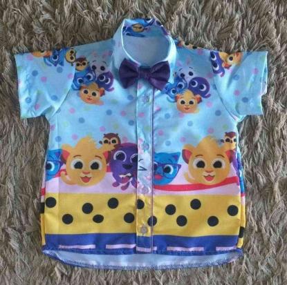 Camisa Bolofofos Bolinhas Infantil
