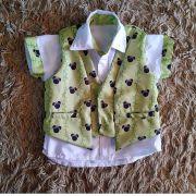 Camisa com Colete Mickey Safari