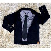 Camisa Social com Gravata e Blazer
