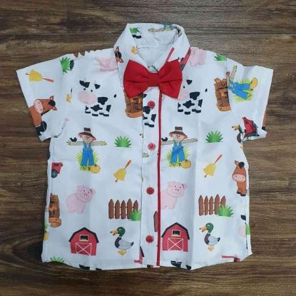 Camisa Fazendinha Branca Infantil