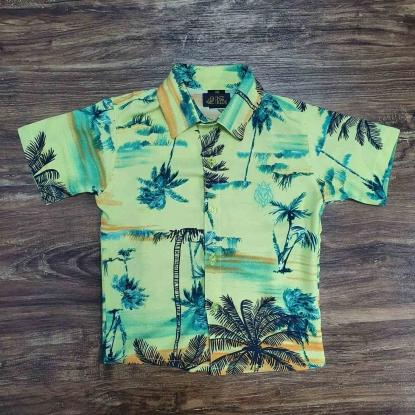 Camisa Floral Amarela Coqueiros Infantil