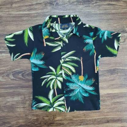 Camisa Floral Preta Infantil