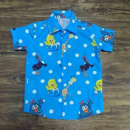 Camisa Galinha Pintadinha Azul Infantil