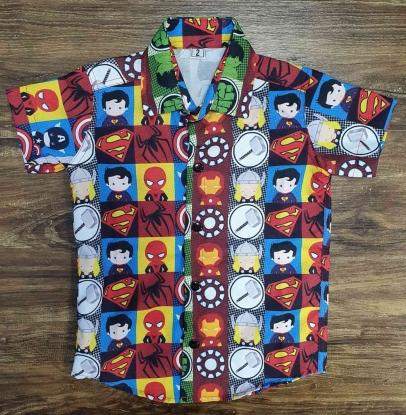 Camisa Heróis Infantil