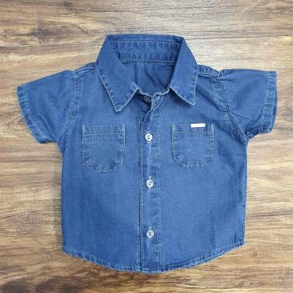 Camisa Jeans Azul Marinho Infantil