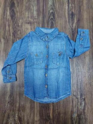 Camisa Jeans Manga Longa Infantil