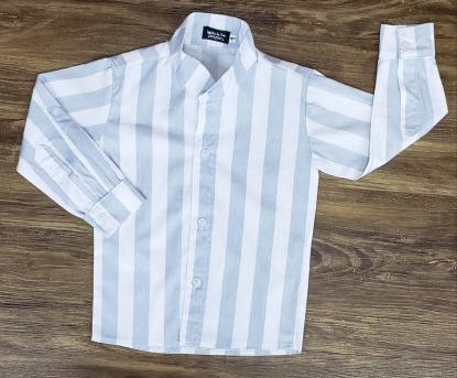 Camisa Listrada Manga Longa