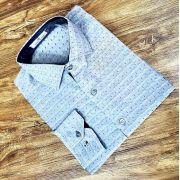 Camisa Manga Longa Cinza