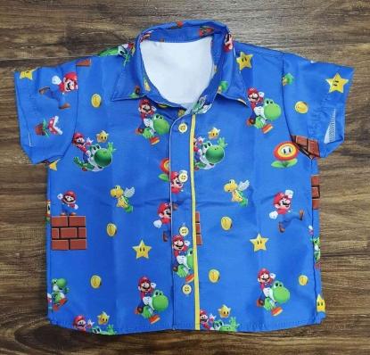 Camisa Mario Azul