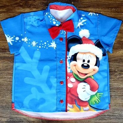 Camisa Mickey Natal Infantil