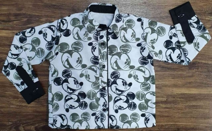 Camisa Mickey Opaca Longa Infantil