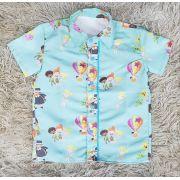 Camisa Mundo Bita Verde Água Infantil