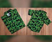Camisa Pai e Filho Floral Infantil
