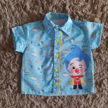 Camisa Palhaço Plim Plim Infantil