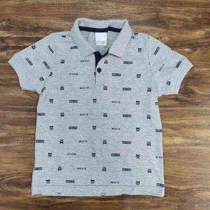 Camisa Polo Action Cinza Infantil