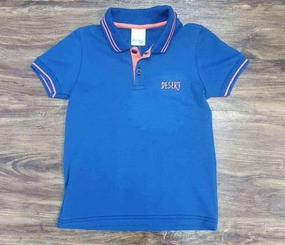 Polo Azul com Laranja Infantil