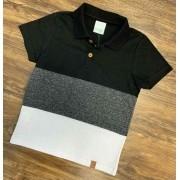 Camisa Polo Listrada Infantil