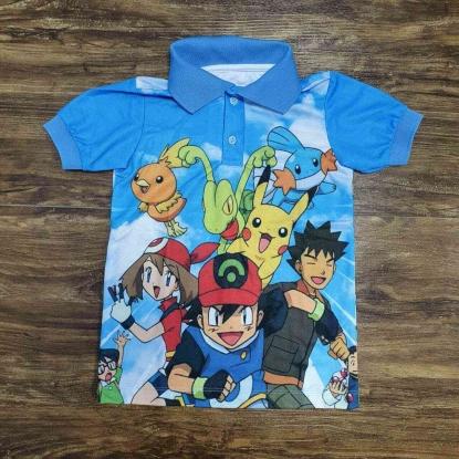 Camisa Polo Pokémon Infantil