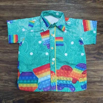 Camisa Pop It Fidget Verde Infantil