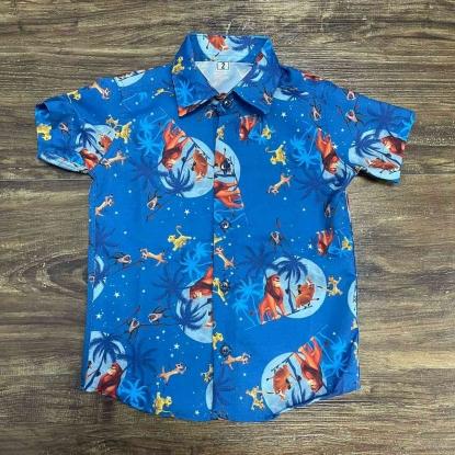 Camisa Rei Leão Azul Infantil