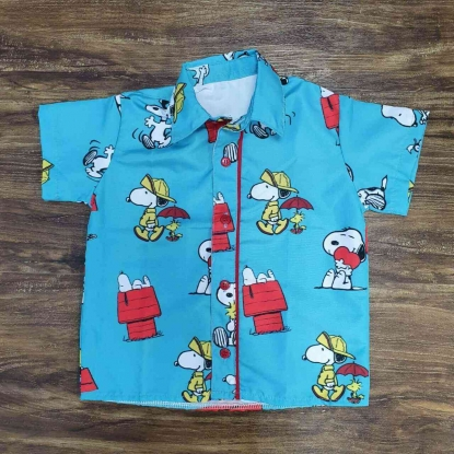 Camisa Snoopy Azul Infantil