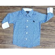 Camisa Social Azul Clara Manga Longa