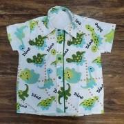 Camisa Social Dinossauros Infantil