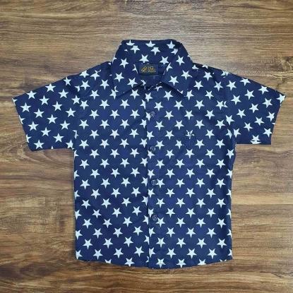 Camisa Social Estrelas Infantil