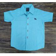 Camisa Social Azul Infantil