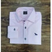 Camisa Social Rosa Infantil