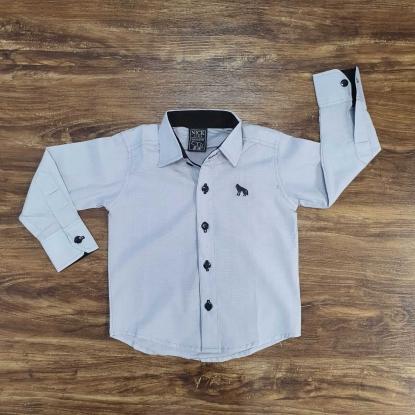 Camisa Social Cinza Infantil