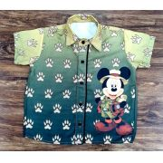 Camisa Social Mickey Safari