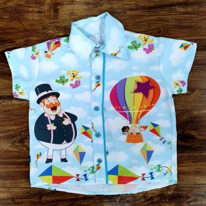 Camisa Mundo Bita Balão Infantil