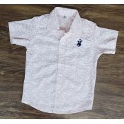 Camisa Social Rosa Manga Curta