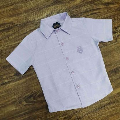 Camisa Social Lilás Infantil
