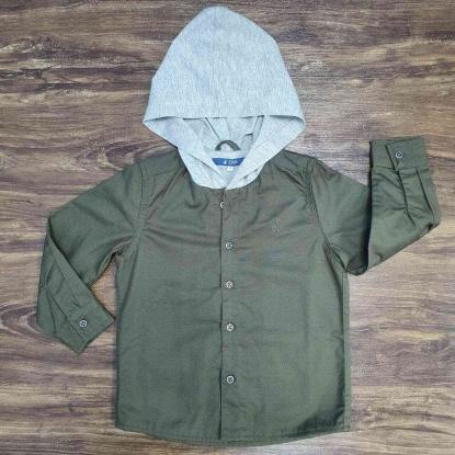 Camisa Verde Musgo com Capuz