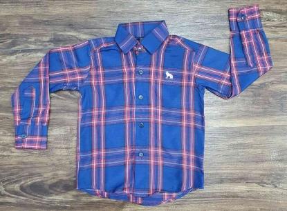 Camisa Xadrez Azul Infantil