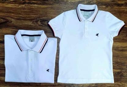 Camisa Polo Branca Infantil