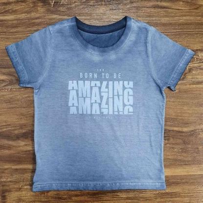 Camiseta Amazing Cinza Infantil