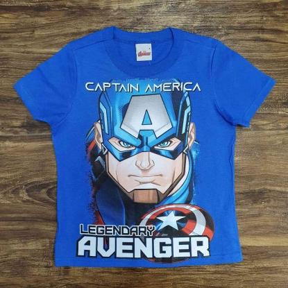 Camiseta Azul Capitão América Infantil