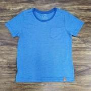 Camiseta Azul com Bolso Infantil