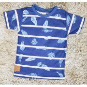 Camiseta Azul Floral Infantil